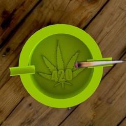 ashtraay1.jpg Download STL file 420 ashtray • 3D printer design, imanThedude
