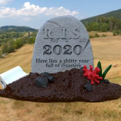 1.png Download STL file 2020 grave • 3D printer model, imanThedude