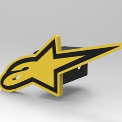 untitled.11.jpg Download STL file Hitch cover Alpinestars • 3D printer model, G4Desing