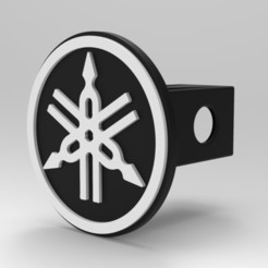 untitled.59.jpg Download STL file yamaha hitch cover • 3D print model, G4Desing