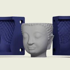 1.JPG Télécharger fichier STL Matrice en pot à tête de bouddha • Plan pour impression 3D, ARPestudio