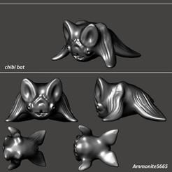 chibiBat.jpg Télécharger fichier STL Chauve-souris Chibi • Objet pour imprimante 3D, ammonite5665