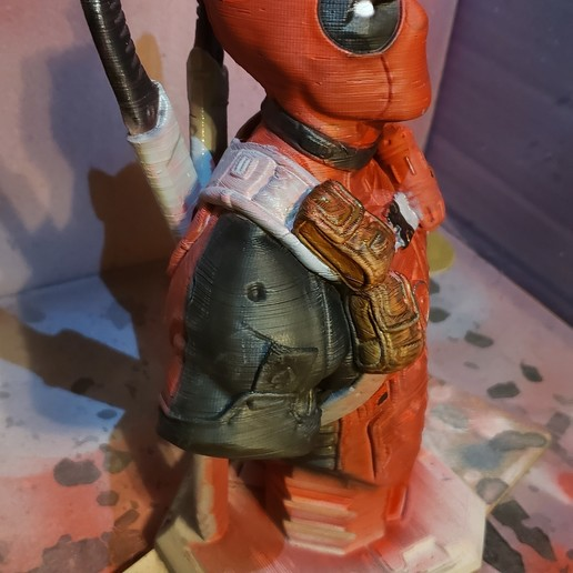 Download free STL file Deadpool bust (Remastered Supportless Edition) (fan art) • 3D print model, bigdad328