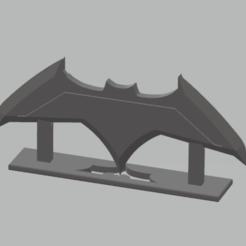Ekran görüntüsü 2020-10-25 105614.png Download STL file Batarang and Stand • 3D printing object, ggnctrkk