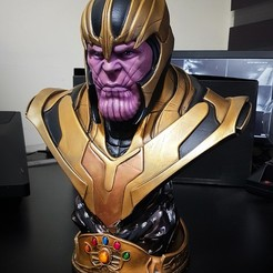 1.jpg Download free STL file BUST OF THANOS THANOS BUST • 3D print object, steguerrero2014