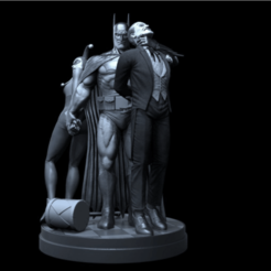 FDBDFBDFB.png Download free STL file BATMAN VS. JOKER VS. HARLEY • 3D print design, steguerrero2014