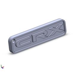 CRX keychain 3.png Télécharger fichier STL Honda CRX - porte-clés • Plan pour imprimante 3D, aleglez19912