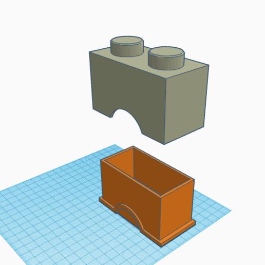 2x1 box2.png Télécharger fichier STL 2x1 boîte Lego • Objet pour imprimante 3D, abaialex2244