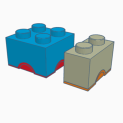 2x2 and 2x1.png Download STL file 2x2 and 2x1 lego boxes bundle • 3D printable design, abaialex2244