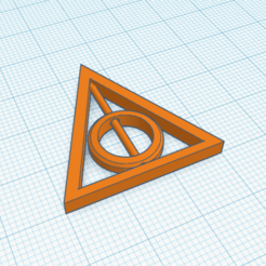Download STL file Deathly Hallows rotatable necklace or keychain • Template to 3D print, abaialex2244