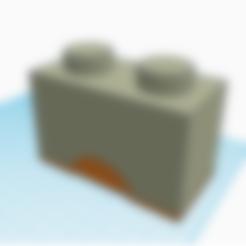 2x1 boy buttom.stl Télécharger fichier STL 2x1 boîte Lego • Objet pour imprimante 3D, abaialex2244