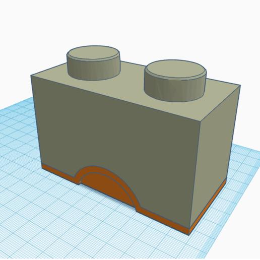 2x1 box.png Télécharger fichier STL 2x1 boîte Lego • Objet pour imprimante 3D, abaialex2244