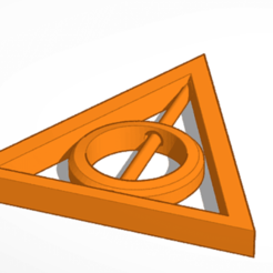 dh.png Download free STL file Deathly Hallows rotatable necklace • 3D printer model, abaialex2244