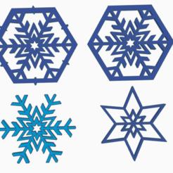 snowflake_all.png Télécharger fichier STL Paquet de boules de Noël (4 en 1) • Objet pour impression 3D, abaialex2244