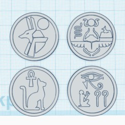 coin.png Download STL file Egypt symbols coin • 3D printing design, abaialex2244
