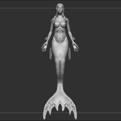 M1.jpg Download OBJ file Mermaid, Siren • 3D printing template, pdelacruz74