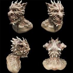deamon 1color.jpg Télécharger fichier STL Deamon Head 1 • Design à imprimer en 3D, pdelacruz74