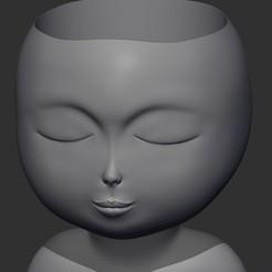 1-.jpg Download STL file Pot - HeadGirl • Model to 3D print, dangush90