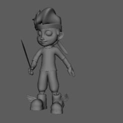 Screenshot (58).png Download OBJ file Cloud boy character-Low poly character • 3D printer design, purimitlasteve