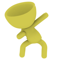 usain.png Download free STL file Usain Bolt Pose • Model to 3D print, danielfchiap