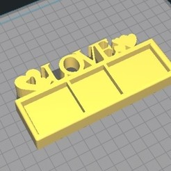 lov7.jpg Download STL file PHOTO FRAME -LOVE • 3D printer object, DennisMor