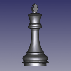 rey1.png Download STL file Chess pieces • 3D printing design, DennisMor