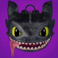 118614652_2675618306009929_63798062543425286_n.jpg Download STL file Toothless Head (original) • 3D printable template, BSnake