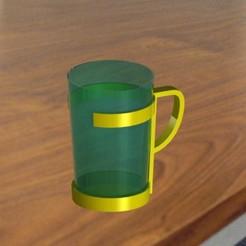 glassholder.jpg Télécharger fichier STL Porte-verre • Plan à imprimer en 3D, bandit_hilmi