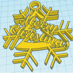 Merry Christmas.png Télécharger fichier STL Décoration de Joyeux Noël • Modèle à imprimer en 3D, rosserbarnett