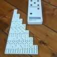Download STL file 3D Printed Dominoes Set with Large Domino Carrying Case • 3D printer template, Enza3d