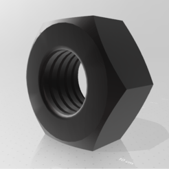 nut (3).PNG Download STL file nut model 3d • 3D printing design, mauro_123
