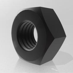 nut (3).PNG Télécharger fichier STL écrou modèle 3d • Plan pour impression 3D, mauro_123