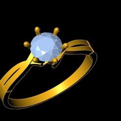1.jpg Download STL file diamond ring • 3D printer object, Ayyaz166