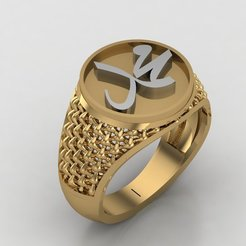 1.jpg Download STL file Muhammad gents ring • 3D printer template, Ayyaz166