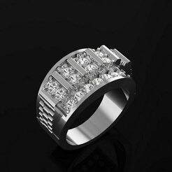 1.jpg Download STL file GENTS DIAMOND RING • 3D printer model, Ayyaz166