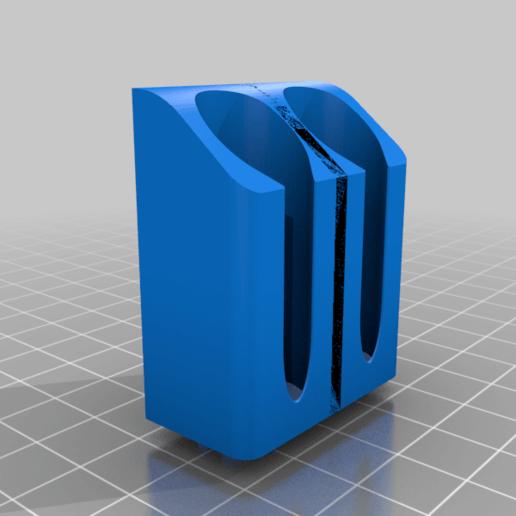 IPAHolder_Double_BMount_v1.png Télécharger fichier STL gratuit IPA/support de flacon pulvérisateur de solvant pour l'extrusion V-Slot 2020 • Design à imprimer en 3D, Daeraxa