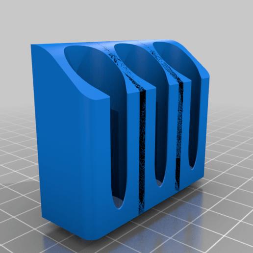 IPAHolder_Triple_BMount_v1.png Télécharger fichier STL gratuit IPA/support de flacon pulvérisateur de solvant pour l'extrusion V-Slot 2020 • Design à imprimer en 3D, Daeraxa