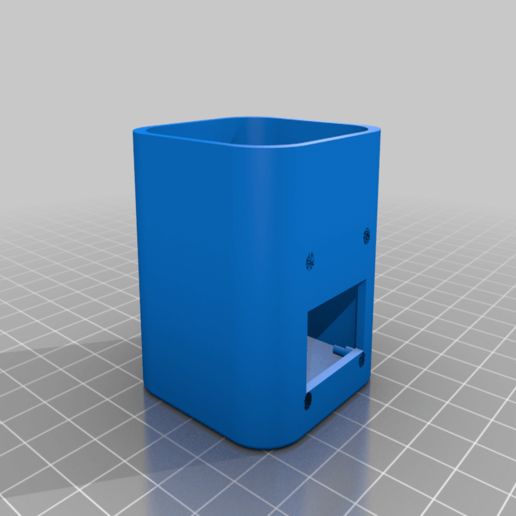 OctoPrintMonitorCase_v1.png Download free STL file Octoprint Monitor Enclosure • Template to 3D print, Daeraxa