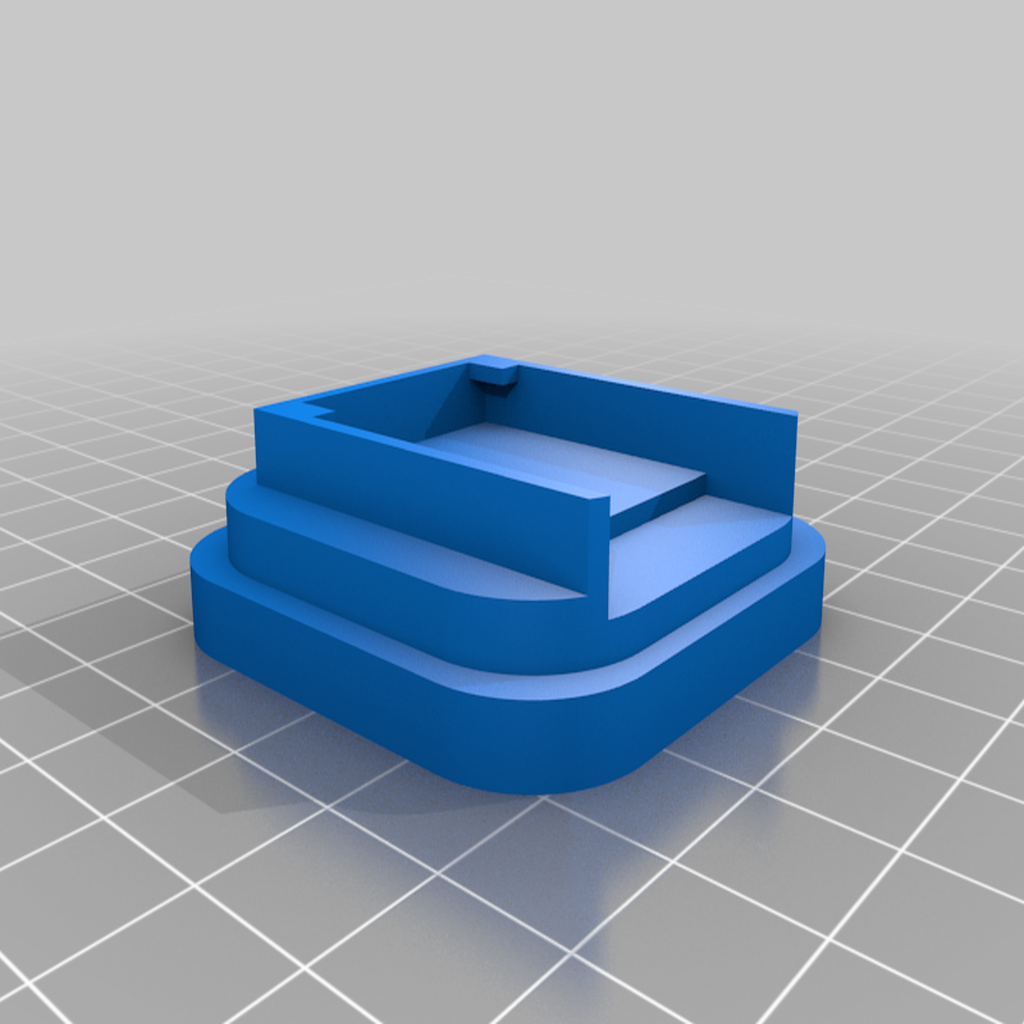 OctoPrintMonitorBaseFlat_v1.png Download free STL file Octoprint Monitor Enclosure • Template to 3D print, Daeraxa