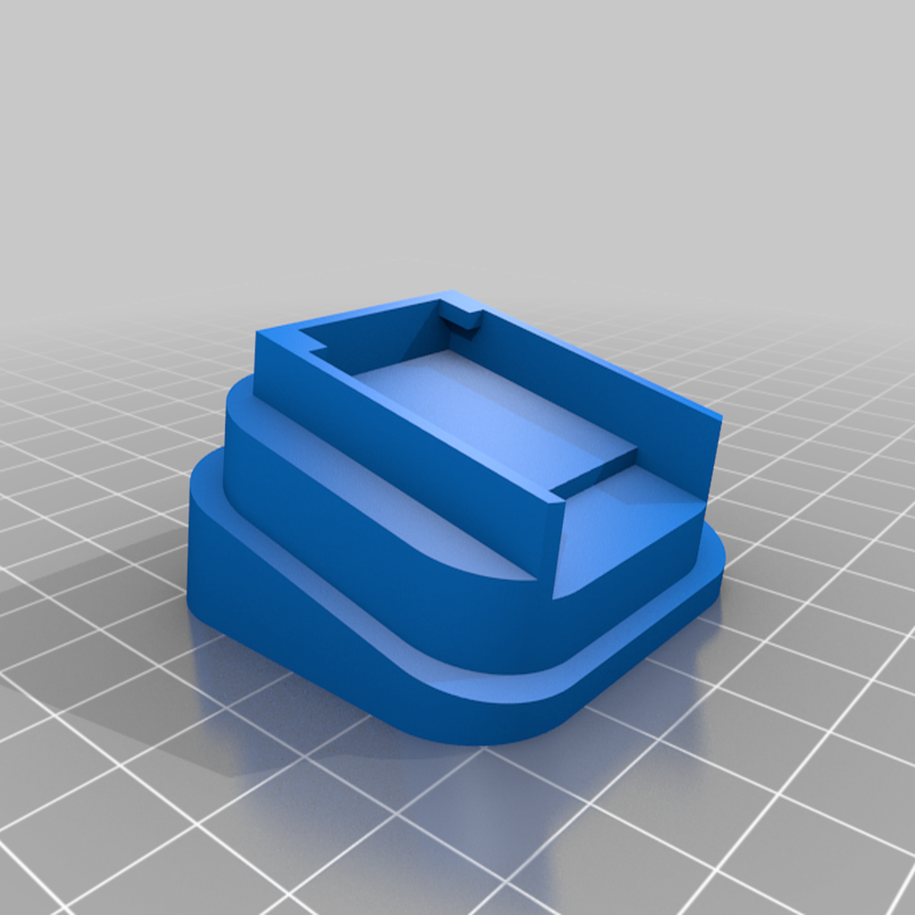 OctoPrintMonitorBaseAngled_v1.png Download free STL file Octoprint Monitor Enclosure • Template to 3D print, Daeraxa