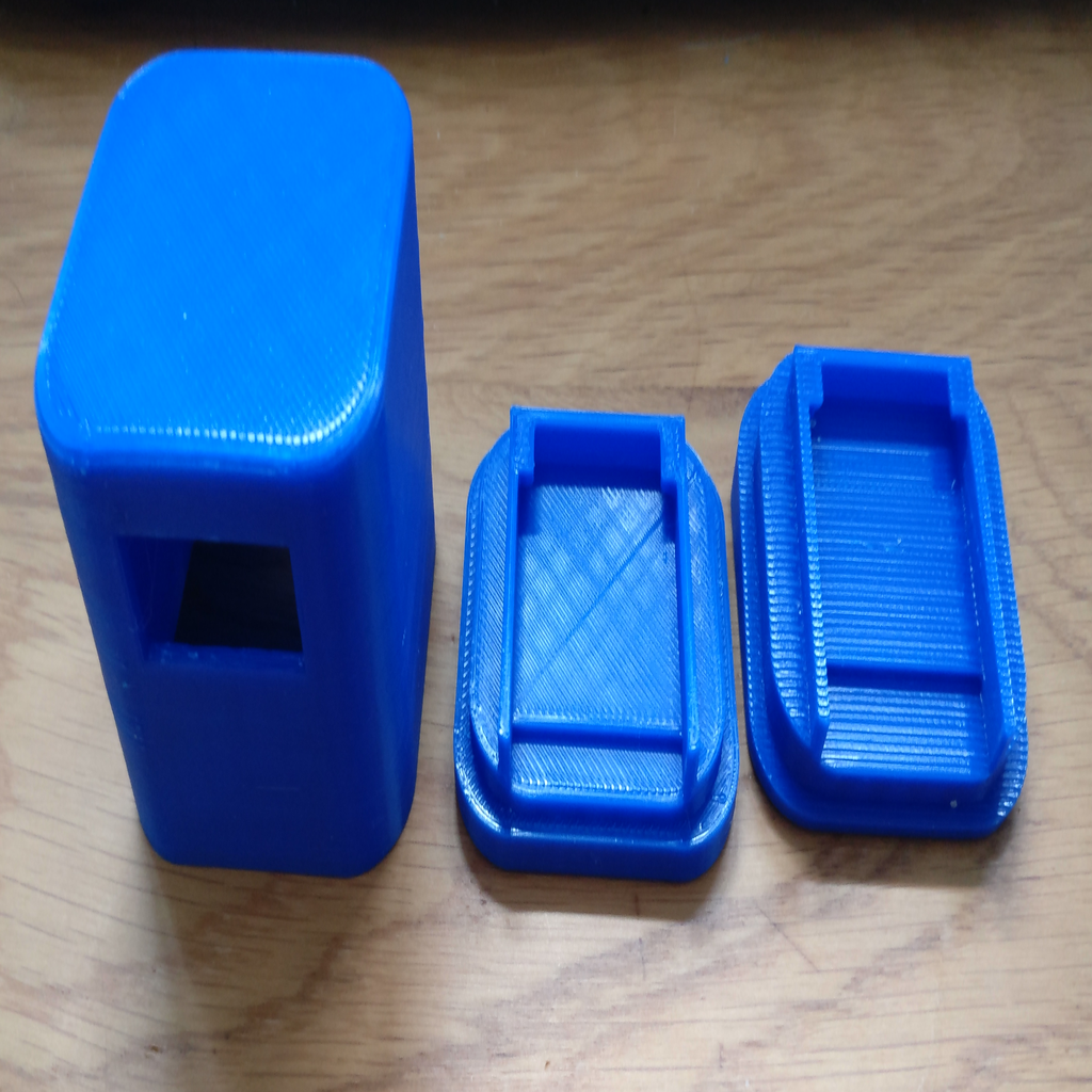 AllParts.png Download free STL file Octoprint Monitor Enclosure • Template to 3D print, Daeraxa