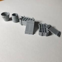 Accessories.jpg Télécharger fichier STL Tonneau, seau, caisse. • Design imprimable en 3D, mod78