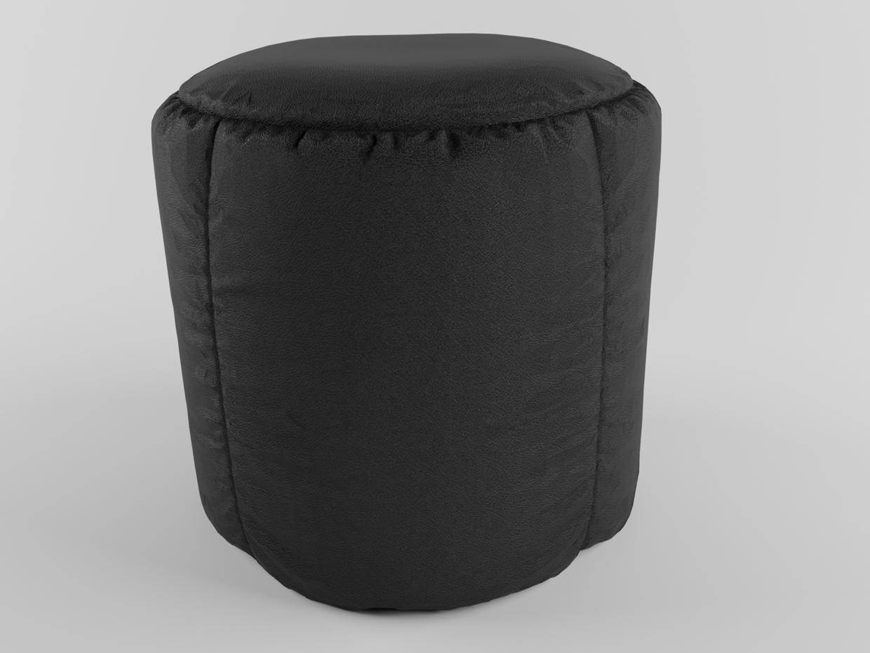 Leather Pouf.jpg Download STL file black Leather Pouf • 3D printing template, muhammedfaris