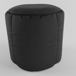 Leather Pouf.jpg Download STL file black Leather Pouf • 3D printing template, muhammedfaris
