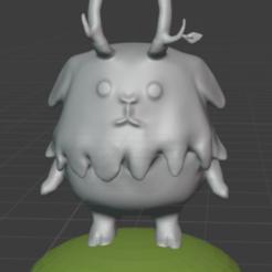 clomperfront.PNG Download free STL file Clomper The Ooblet • 3D printable design, resinpeasant