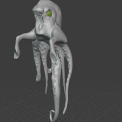 krakenfront.PNG Download free STL file Kraken Monitor Decoration • Model to 3D print, resinpeasant