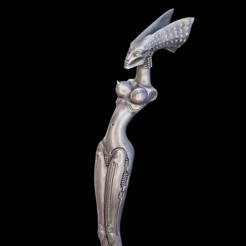 front.png Download STL file Nubian Queen - H.R. Giger • 3D printable design, XiQils