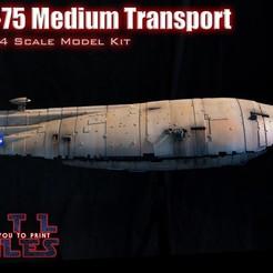 A_Rebel Transport Model.jpg Télécharger fichier STL GR-75 Transport des rebelles • Plan pour imprimante 3D, MosEisleyModelworks