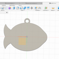 placa gato v1 2  .png Download STL file plate fish cat • 3D printer object, felipevasquezgamboa