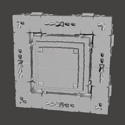 Download free STL file Robot Square Portrait Tile Panel • 3D printable object, SelcouthConcepts